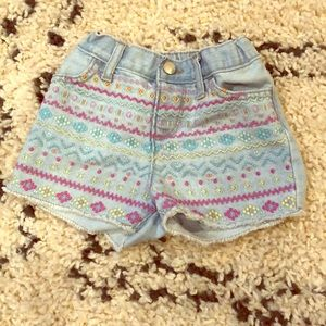 Children's place denim cut offs